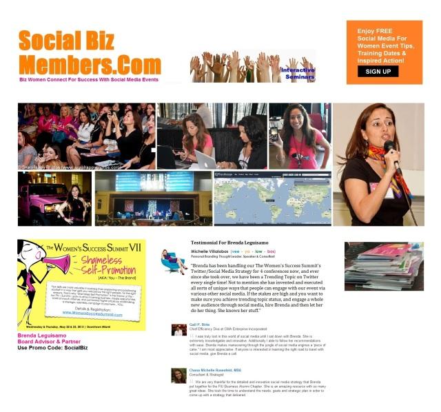 Brenda Leguisamo Social Media For Women Events Success