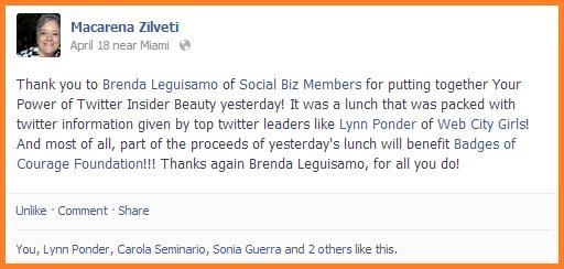 Social Biz Members Testimonial Macarena Zilveti