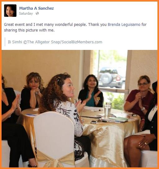 Social Biz Members Testimonial Martha A Sanchez