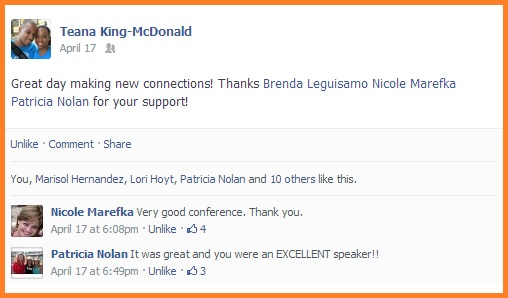 Social Biz Members Testimonial Teana McDonald
