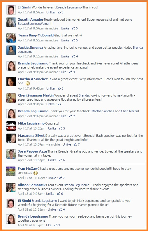 Social Biz Members Testimonial Various on Facebook
