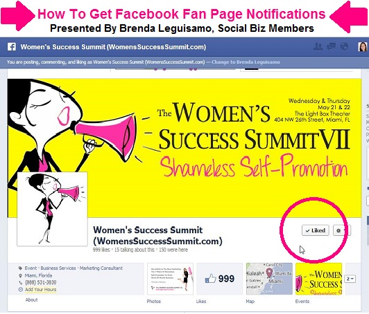 How To Get Facebook Fan Page Notifications - Brenda Leguisamo