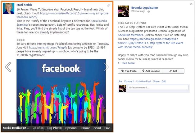 1 Brenda Leguisamo Social Biz Members Event Review 1 of 30 Mari Smith-1