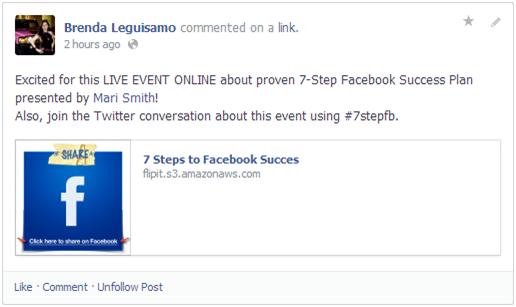 1 Brenda Leguisamo Social Biz Members Event Review 1 of 30 Mari Smith-2
