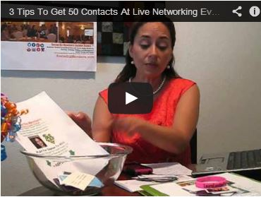 3 tips to get 50 contacts at live networking event